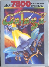 Galaga Atari 7800 cover artwork