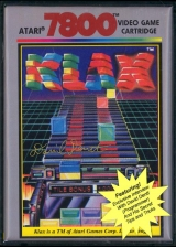 Klax Atari 7800 cover artwork