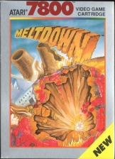 Meltdown Atari 7800 cover artwork
