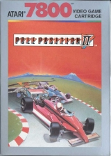 Pole Position II Atari 7800 cover artwork