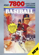 RealSports Baseball Atari 7800 cover artwork
