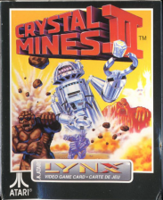 Crystal Mines II Atari Lynx cover artwork
