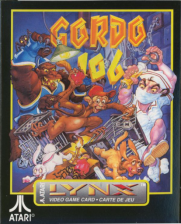 Gordo 106 - The Mutated Lab Monkey Atari Lynx cover artwork