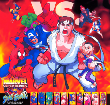 Marvel Super Heroes Vs. Street Fighter Capcom CPS 2 cover artwork
