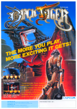 Black Tiger Coin Op Arcade cover artwork