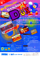 Dynamite Dux Coin Op Arcade cover artwork