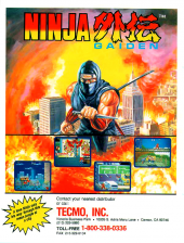 Ninja Gaiden - Shadow Warriors Coin Op Arcade cover artwork