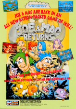 Joe & Mac Returns Coin Op Arcade cover artwork