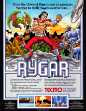 Rygar Coin Op Arcade cover artwork