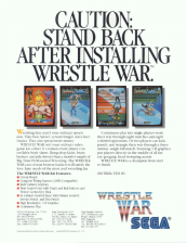 Wrestle War Coin Op Arcade cover artwork
