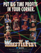 WWF WrestleFest Coin Op Arcade cover artwork