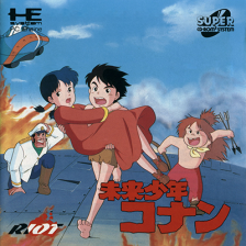 Mirai Shounen Conan NEC PC Engine CD cover artwork