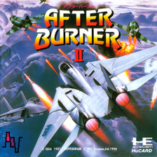 After Burner II NEC PC Engine cover artwork