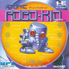 Atomic Robo-Kid Special NEC PC Engine cover artwork