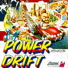 Power Drift NEC PC Engine cover artwork