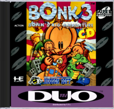 Bonk 3 - Bonk's Big Adventure NEC TurboGrafx 16 CD cover artwork