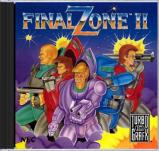 Final Zone II NEC TurboGrafx 16 CD cover artwork