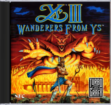 Ys III - Wanderers from Ys NEC TurboGrafx 16 CD cover artwork