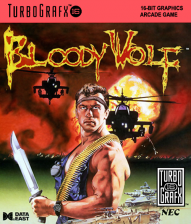 Bloody Wolf NEC TurboGrafx 16 cover artwork