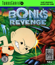 Bonk's Revenge NEC TurboGrafx 16 cover artwork