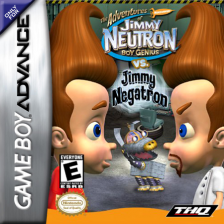 Adventures of Jimmy Neutron Boy Genius vs. Jimmy Negatron, The Nintendo Game Boy Advance cover artwork