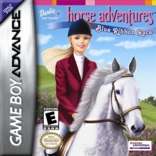 Barbie Horse Adventures - Blue Ribbon Race Nintendo Game Boy Advance cover artwork