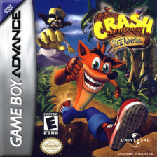 Crash Bandicoot - The Huge Adventure Nintendo Game Boy Advance cover artwork