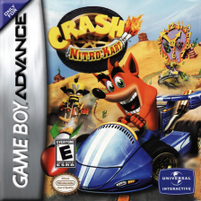 Crash Nitro Kart Nintendo Game Boy Advance cover artwork
