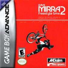 Dave Mirra Freestyle BMX 2 Nintendo Game Boy Advance cover artwork