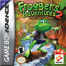 Frogger's Adventures 2 - The Lost Wand Nintendo Game Boy Advance cover artwork