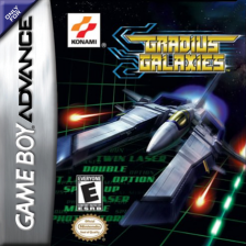 Gradius Galaxies Nintendo Game Boy Advance cover artwork