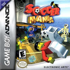 LEGO Soccer Mania Nintendo Game Boy Advance cover artwork