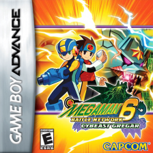 Mega Man Battle Network 6 - Cybeast Gregar Nintendo Game Boy Advance cover artwork