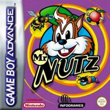Mr Nutz Nintendo Game Boy Advance cover artwork