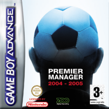 Premier Manager 2004-2005 Nintendo Game Boy Advance cover artwork