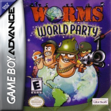Worms World Party Nintendo Game Boy Advance cover artwork