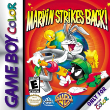 Marvin Strikes Back! Nintendo Game Boy Color cover artwork