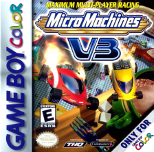 Micro Machines V3 Nintendo Game Boy Color cover artwork