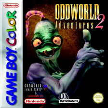 Oddworld Adventures II Nintendo Game Boy Color cover artwork