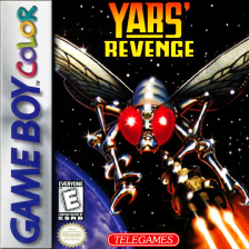 Yars' Revenge Nintendo Game Boy Color cover artwork