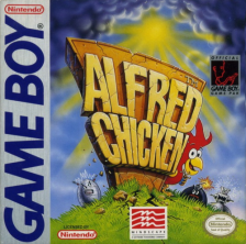 Alfred Chicken Nintendo Game Boy cover artwork