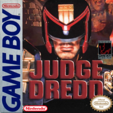 Judge Dredd Nintendo Game Boy cover artwork