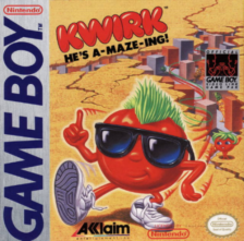 Kwirk - He's A-maze-ing! Nintendo Game Boy cover artwork
