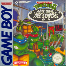 Teenage Mutant Ninja Turtles II - Back from the Sewers Nintendo Game Boy cover artwork