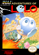 Adventures of Lolo Nintendo NES cover artwork