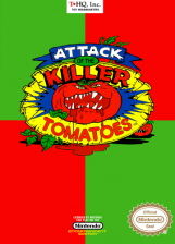 Attack of the Killer Tomatoes Nintendo NES cover artwork