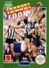Aussie Rules Footy Nintendo NES cover artwork
