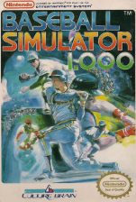 Baseball Simulator 1.000 Nintendo NES cover artwork