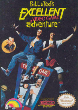 Bill & Ted's Excellent Video Game Adventure Nintendo NES cover artwork