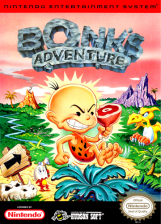Bonk's Adventure Nintendo NES cover artwork